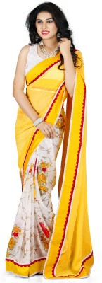 Naksh Creation Floral Print Bollywood Georgette Sari