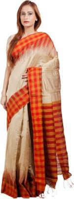 Shopping Menu Card Floral Print Banarasi Banarasi Silk Sari