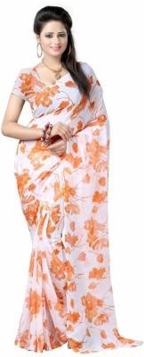 MemSahiba Floral Print Fashion Chiffon Sari