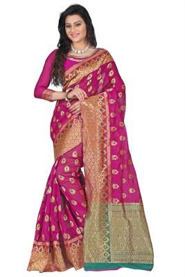 Azara Lifestyle Embellished Banarasi Banarasi Silk Sari