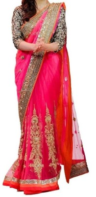 Mahesh Traders Embriodered Bollywood Net Sari