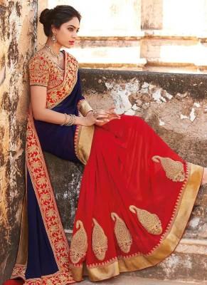 Abhaysri Fashion Embriodered Fashion Georgette Sari