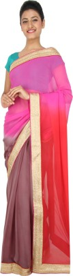 Yomeeto Embriodered Fashion Georgette Sari
