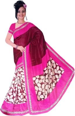 Vivah Printed Bollywood Cotton, Silk Sari