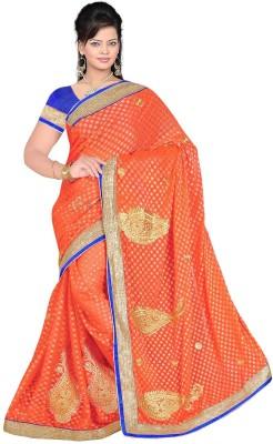 Regalia Ethnic Embriodered Fashion Pure Georgette Sari