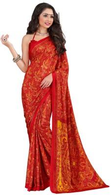 A G Lifestyle Printed Fashion Crepe Sari