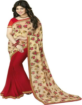 Samarth Fab Self Design Bollywood Georgette Sari