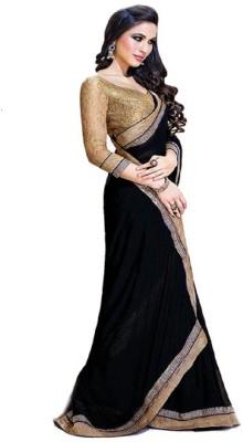 Shyam Creations Striped Bollywood Handloom Chiffon Sari