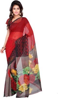 Adah Fashions Printed Daily Wear Georgette Sari