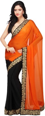 Krishna Self Design Bollywood Pure Georgette Sari