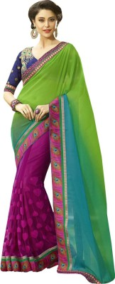 Amayra Fashions Embriodered Fashion Georgette Sari