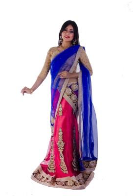 Aryya Self Design Fashion Net, Satin Sari
