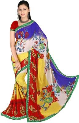Janya Self Design Chettinadu Georgette Sari