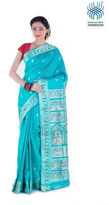 Tantuja Woven Baluchari Handloom Cotton Sari