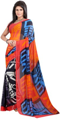 ZofeyFashion Printed, Floral Print Daily Wear Georgette Sari