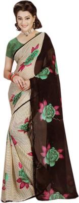 Kayaan Floral Print Fashion Pure Georgette Sari