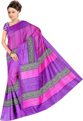 Fashion4Nation Printed Daily Wear Art Silk Sari