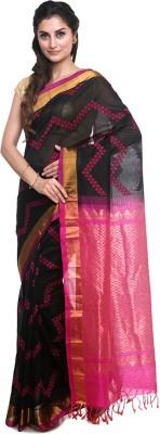 BlackBeauty Self Design Ilkal Handloom Silk Cotton Blend Saree(Grey) at flipkart