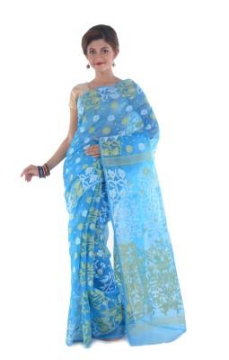 Taniis Self Design Jamdani Handloom Silk Sari