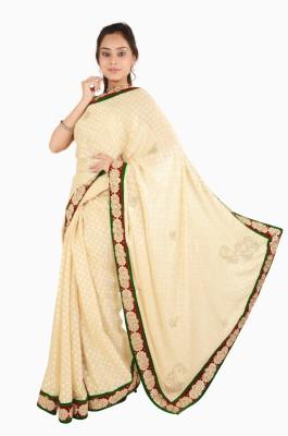 Vasundhara Lifestyle Embriodered Fashion Chiffon, Brasso Fabric Sari