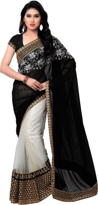 Krishna Ki Leela Embriodered Fashion Georgette Sari