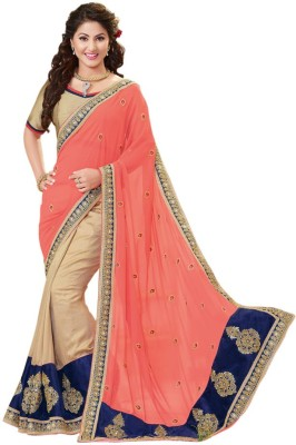 Fabviva Embriodered Bollywood Pure Georgette Sari