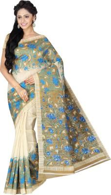 Pavechas Printed Mangalagiri Jute, Silk Sari