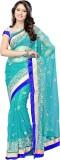 Dlines Self Design Fashion Net Saree (Bl...