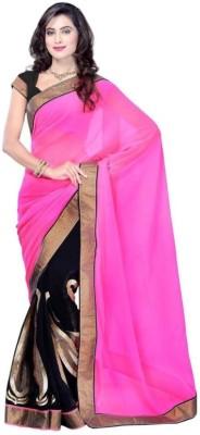 Lady Berry Self Design Fashion Handloom Chiffon Sari