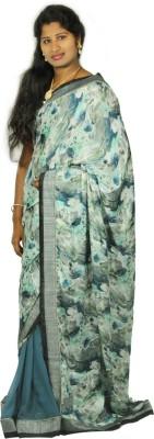 Roopascollection Plain Fashion Georgette Sari