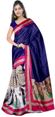 Wowcreation Printed Bhagalpuri Handloom Art Silk Sari