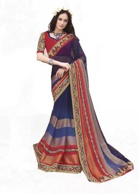 Rajhans Fashion Embellished Fashion Viscose, Chiffon Sari
