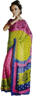 Coloursexports Floral Print Bollywood Pure Chiffon Sari