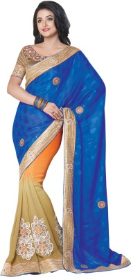 Shop Plaza Embriodered, Plain Daily Wear Satin, Jacquard Sari