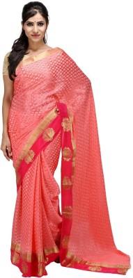 KALYANAM Plain Maheshwari Crepe Sari