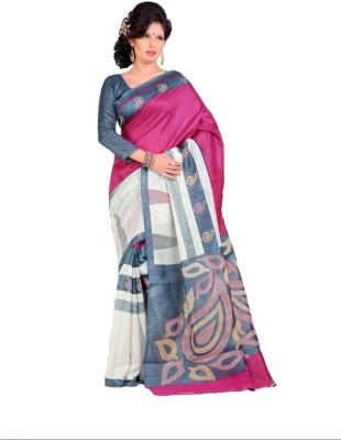 Geordie Paisley, Self Design Fashion Art Silk, Cotton Sari
