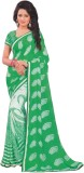 JASHIYA Printed Fashion Crepe Saree (Gre...