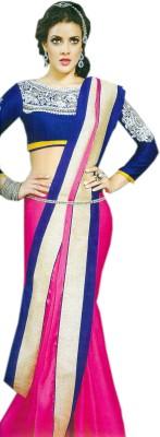 Purple Boat Solid Fashion Satin Sari