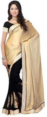 JK Creation Self Design Fashion Satin Sari