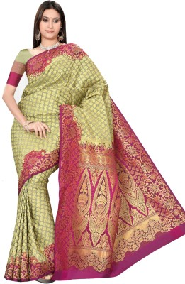 Srinidhi Silks Self Design Kanjivaram Silk Cotton Blend Sari