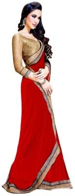 TriveniCreation Self Design Bollywood Chiffon Sari