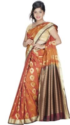 Srinidhi Silks Self Design Kanjivaram Poly Silk Sari