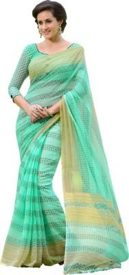 Way2 Striped Chanderi Handloom Cotton Sari
