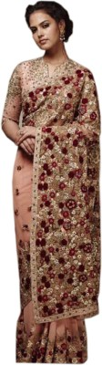 mGm Creation Self Design Fashion Net Sari