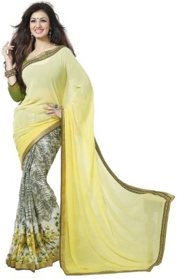 Krishna Fab Self Design Fashion Chiffon Sari