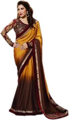 mGm Creation Self Design Bollywood Georgette Sari