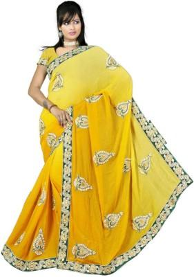 Jorjet Embriodered Fashion Georgette Sari