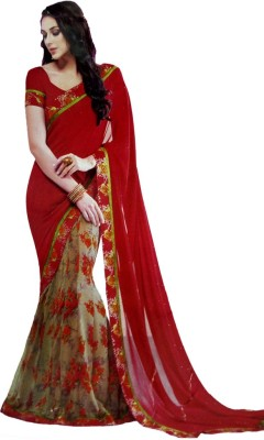 Shaarada Embellished Fashion Pure Georgette Sari