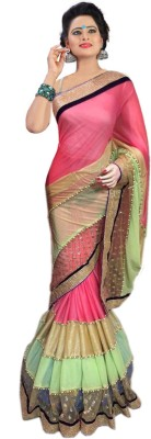 Granth Self Design Bollywood Art Silk Sari