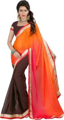 Jagdamba Creation Striped Fashion Viscose Sari